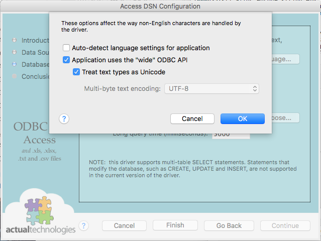 How to Configure MS Access Drivers on the Mac – Circle Systems